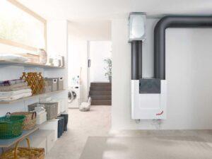 recuperador de calor en casa pasiva